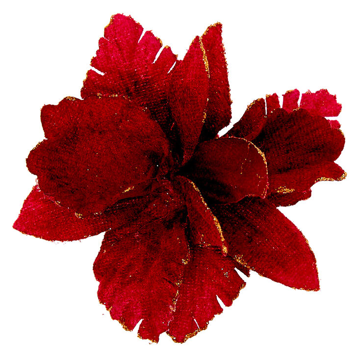 1940s Hairstyles- History of Women's Hairstyles Icing Velvet Glitter Flower Hair Clip - Burgundy $6.99 AT vintagedancer.com