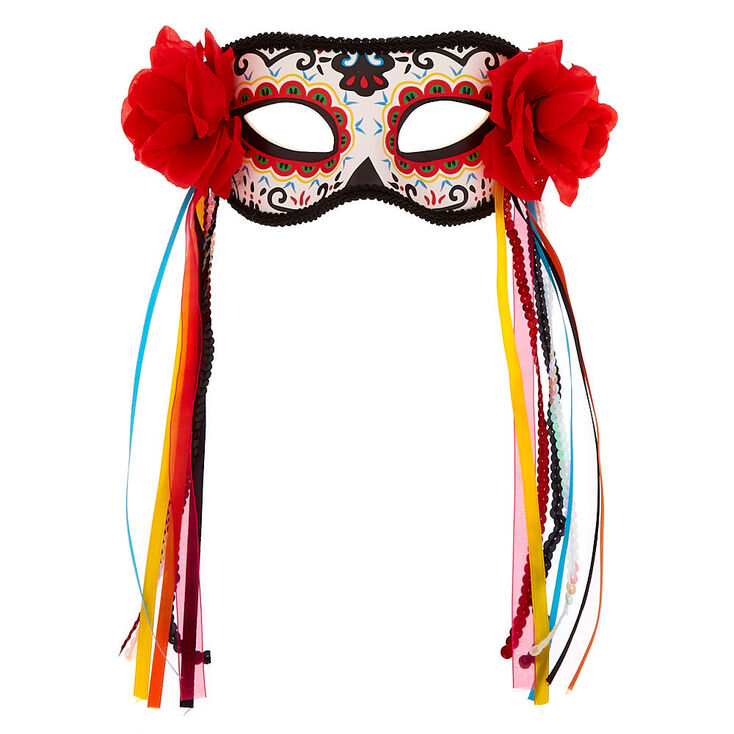 Day of The Dead Rainbow Ribbon Mask,