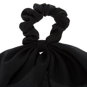 Draped Scarf Hair Scrunchie - Black,