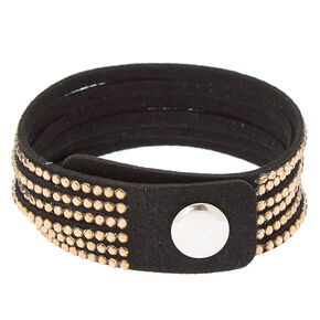 Studded Layered Statement Bracelet - Copper,