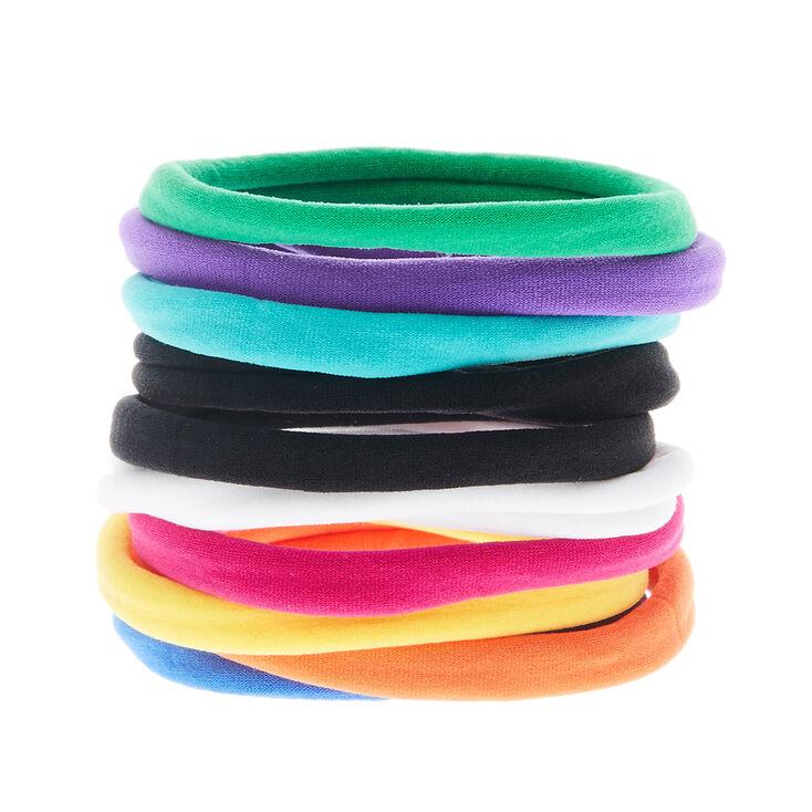 Rainbow Hair Rolled Hair Ties,