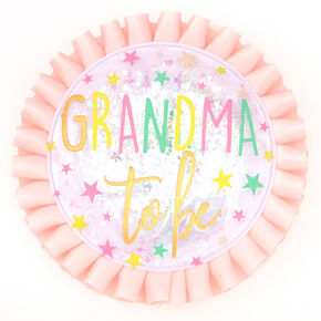 Grandma To Be Twinkle Star Button - Pink,