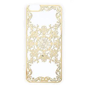 Gold Filigree Phone Case - Fits iPhone 6/6S Plus,
