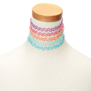 Neon Tattoo Choker Necklaces,
