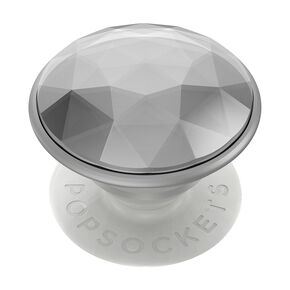 Disco Crystal Silver PopGrip PopSocket,