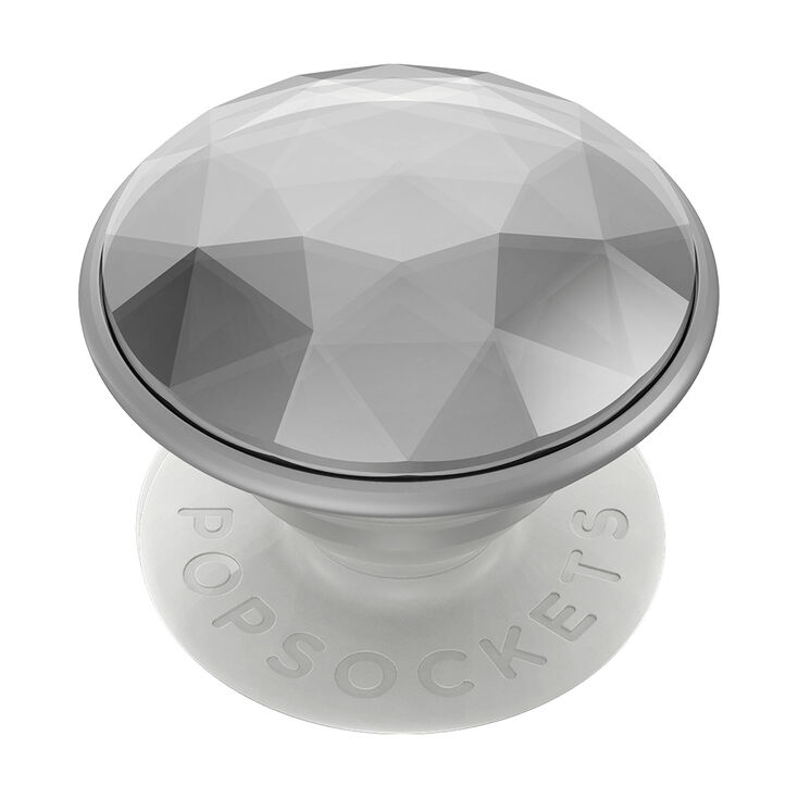 Disco Crystal Silver PopGrip PopSocket,