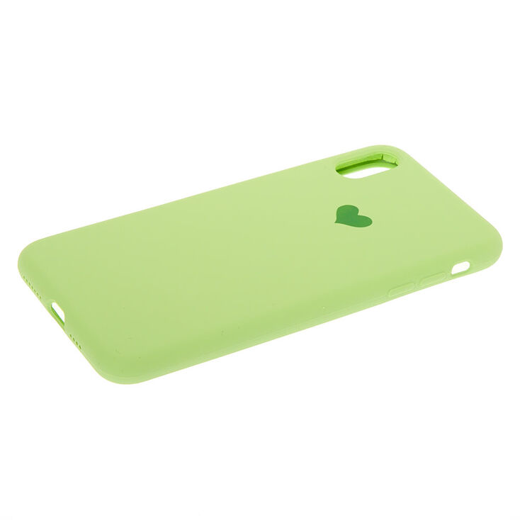 Green Heart Phone Case - Fits iPhone XS Max,