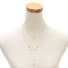 Silver Delicate Multi Strand Necklace,
