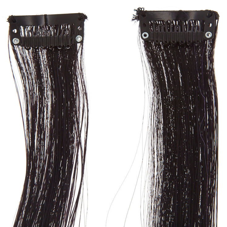 2 Pack Purple Ombre Faux Hair Clips,