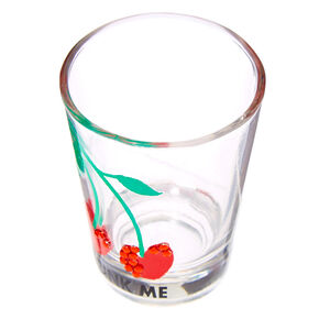 Drink Me Cherries Shot Glass - Clear,