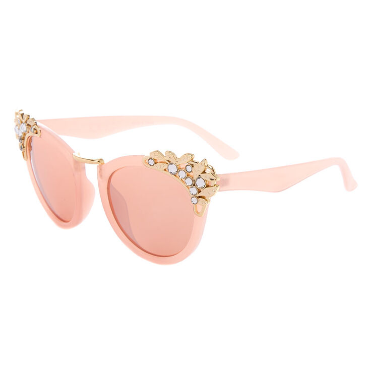 Gold Bling Wing Sunglasses - Pink,