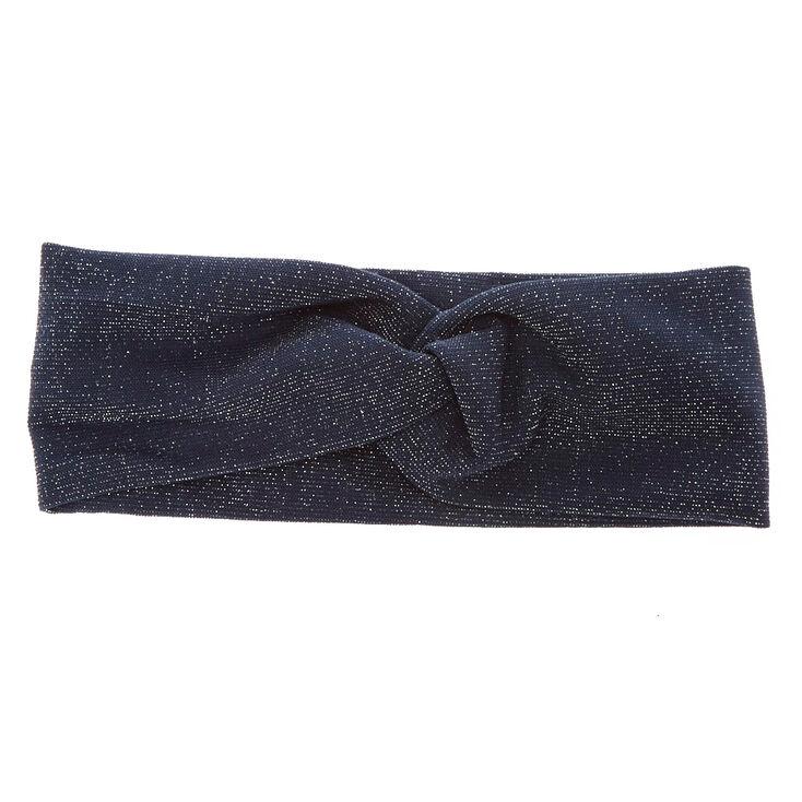 Navy Lurex Headwrap,