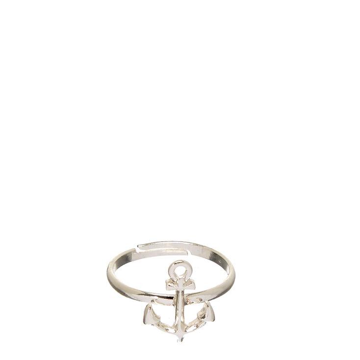 Silver-Tone Anchor Ring,