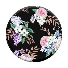 Black Floral PopGrip PopSocket,