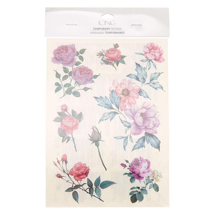 Rose Flower Temporary Tattoos,