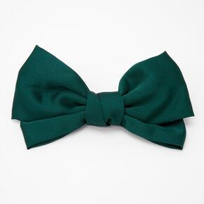 Large Hair Bow Clip - Emerald,