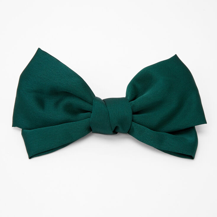 1940s Hair Accessories- Flowers, Snoods, Clips, Wigs, Bandannas Icing Large Hair Bow Clip - Emerald $7.99 AT vintagedancer.com