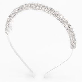 Silver Rhinestone Pyramid Headband,