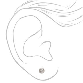 Mixed Metal Fireball Stud Earrings - 9 Pack,