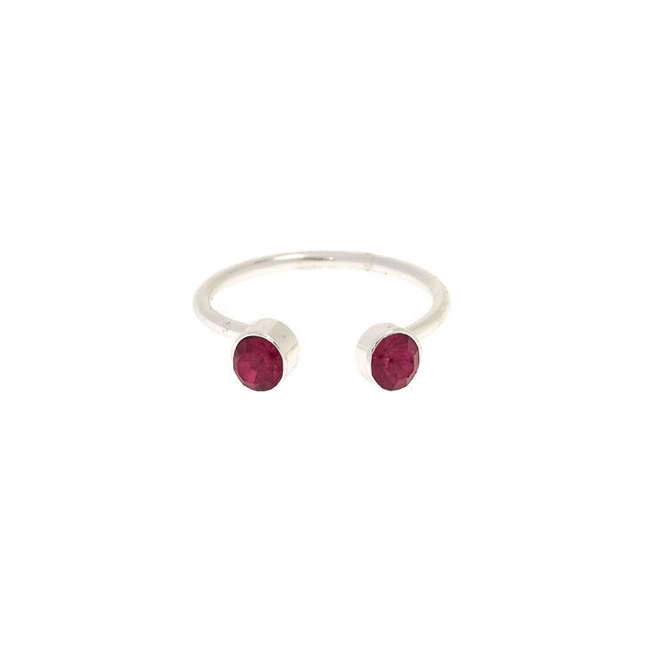 Open Cuff Fuchsia Crystal Toe Ring,