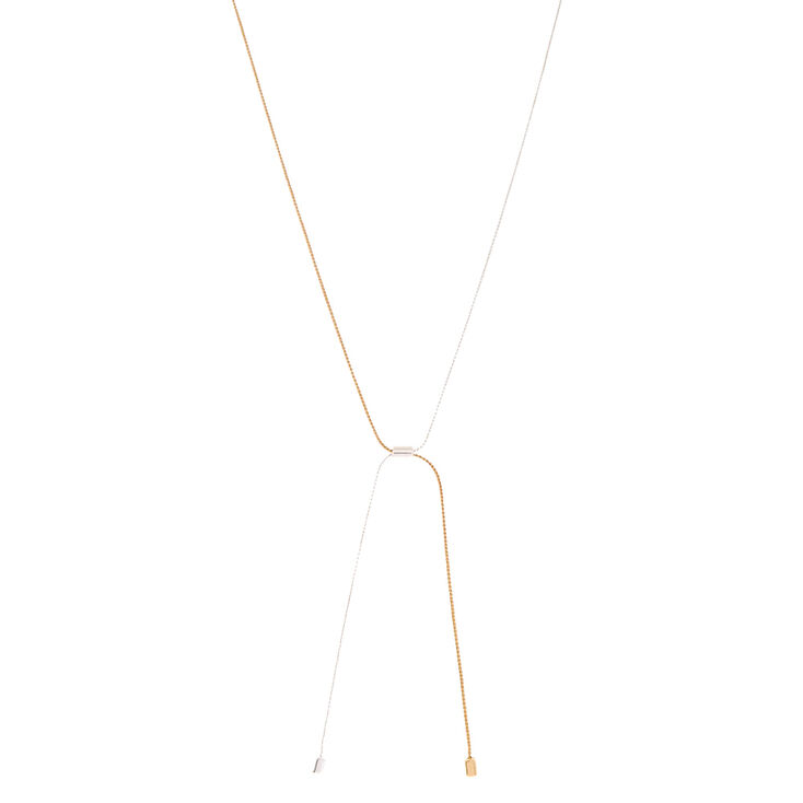 Gold & Silver-Toned Necklace,