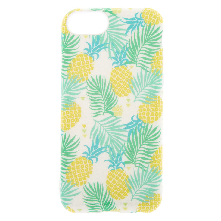 Glitter Pineapple Protective Phone Case - Fits iPhone 6/7/8/SE,