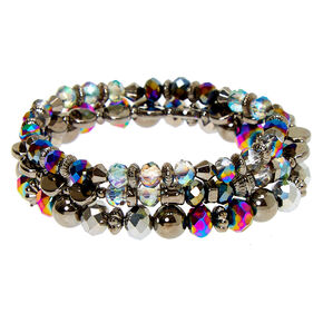 Hematite Bead Stretch Bracelets - 3 Pack,