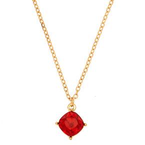 July Birthstone Pendant Necklace - Ruby,