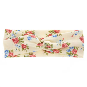 Ivory Roses Headwrap,