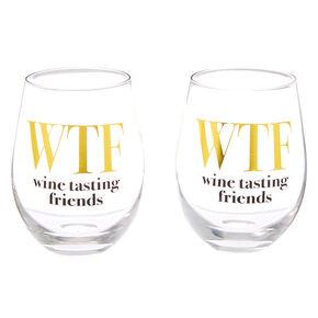 WTF Wine Tasting Friends Wine Glass Set - 2 Pack,