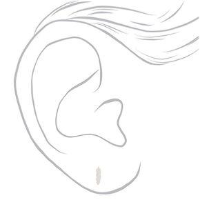 Sterling Silver Feather Stud Earrings,