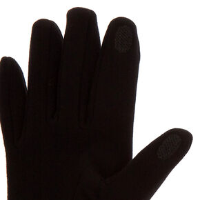 Bling Touchscreen Gloves - Black,