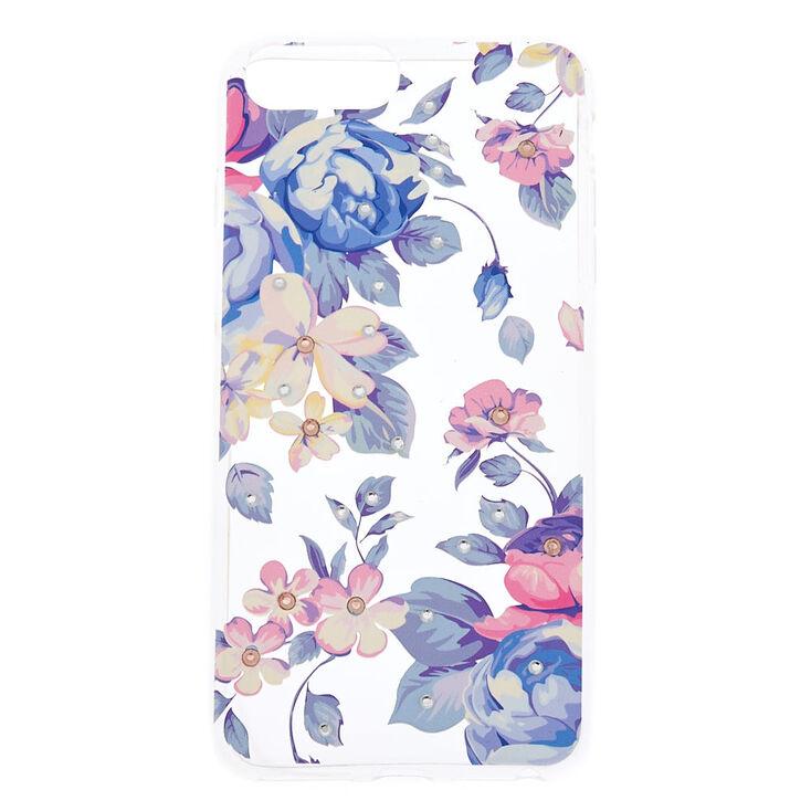 Floral Gem Phone Case - Fits iPhone 6/7/8 Plus,