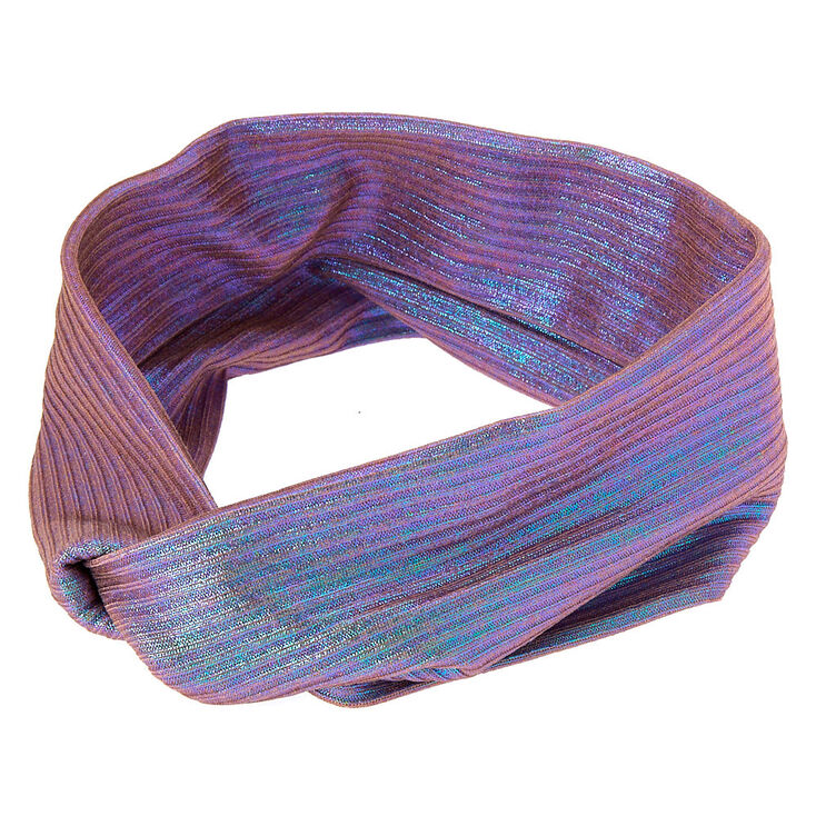 Twisted Oil Slick Headwrap - Lilac,