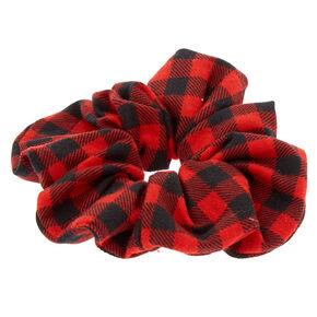 Buffalo Check Hair Scrunchie - Red,