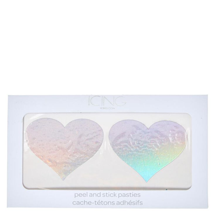 Holographic Heart Pasties,