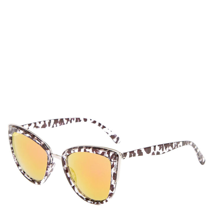 Marble Print Cat Eye Sunglasses,