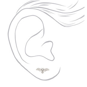 Silver Bat Stud Earrings,