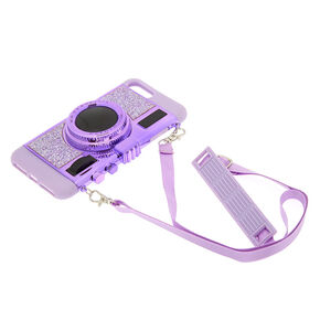 Retro Camera Phone Case - Rose Gold,