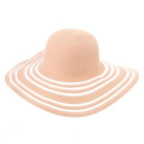 Large Floppy Sun Hat - Blush,