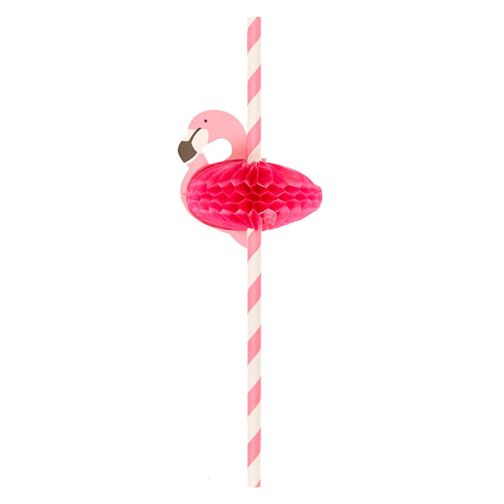 Flamingo Paper Straws,