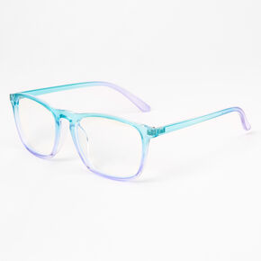 Turquoise & Lilac Ombre Clear Lens Frames,