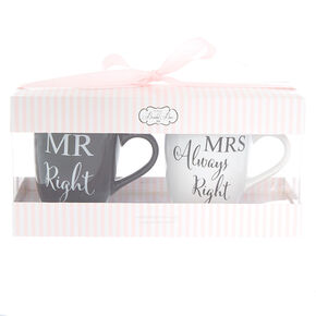 Bride and Groom Mug Set - 2 Pack,