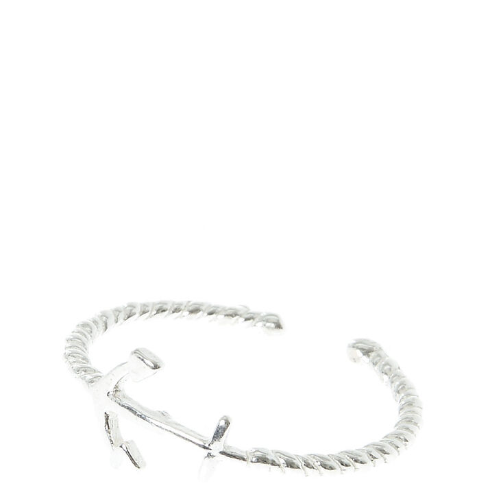 Sterling Silver Anchor Toe Ring,