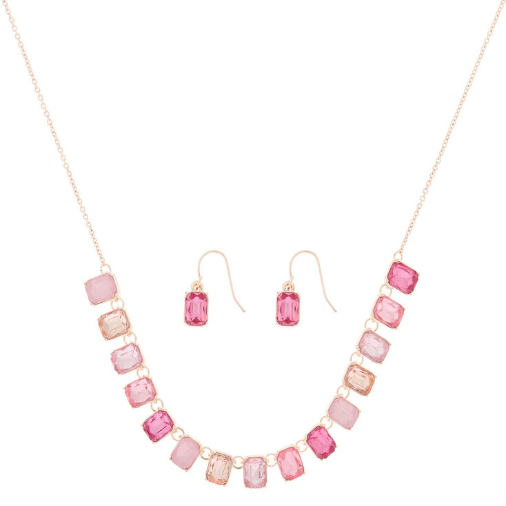 Rose Gold Ombre Jewelry Set - Pink, 2 Pack,