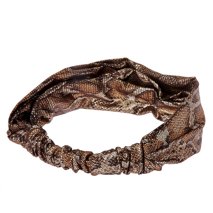 Metallic Snake Skin Headwrap,