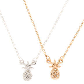 Pineapple Pendant Necklaces - 2 Pack,