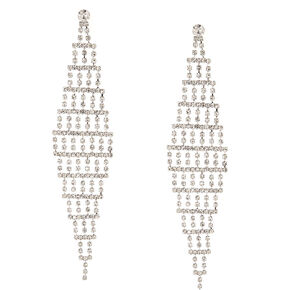 Tiered Crystal Drop Earrings,