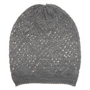 Knit Beanie - Gray,