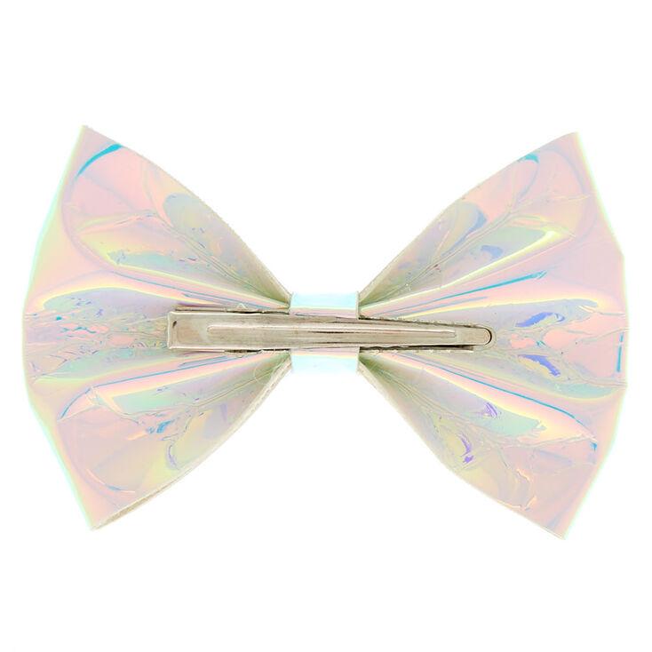 Holographic Mini Bow Hair Clip,